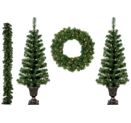 Zestaw świątecznych Dekoracji Choinki Wieniec