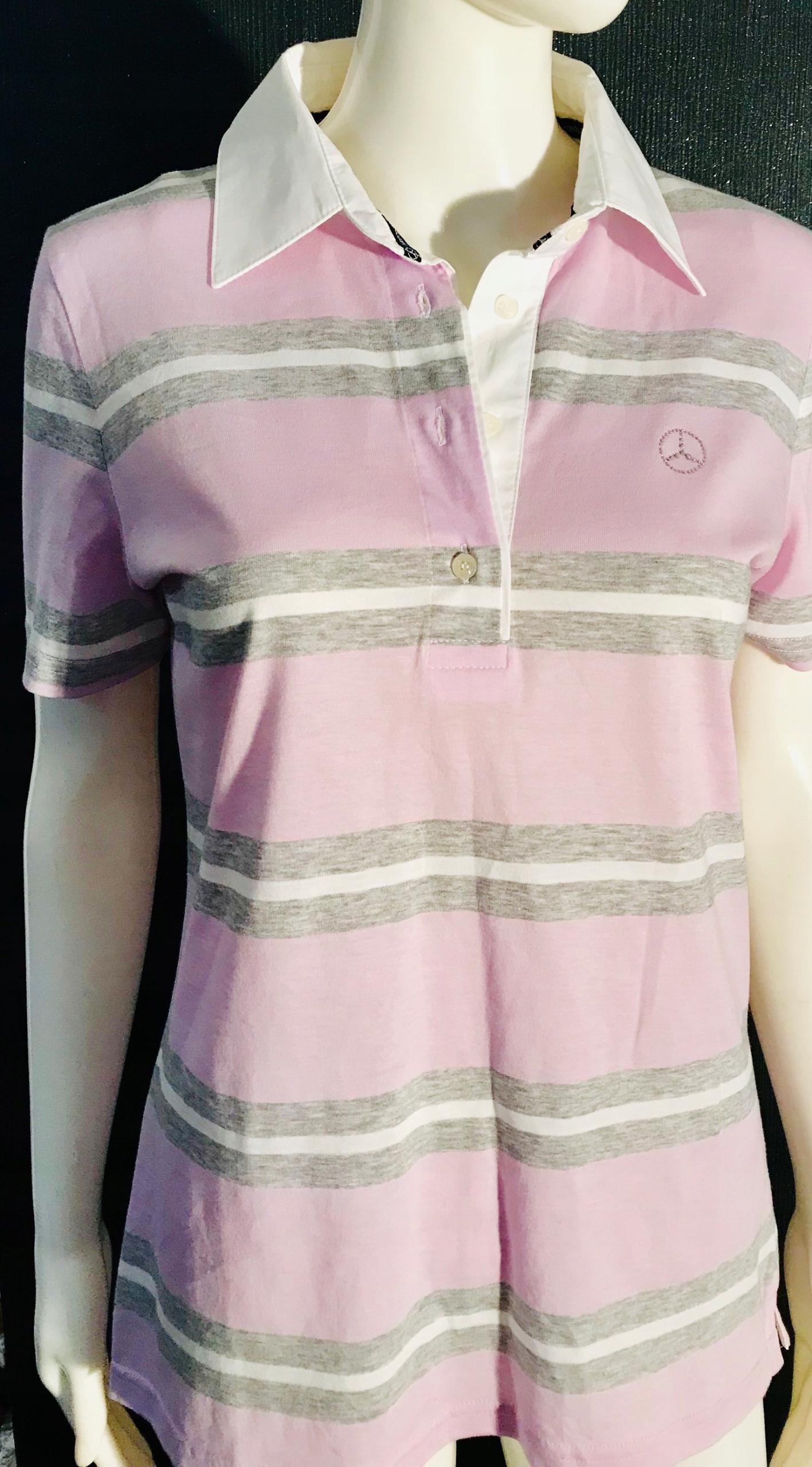 Koszulka polo Mercedes-Benz roz L damska Cekiny