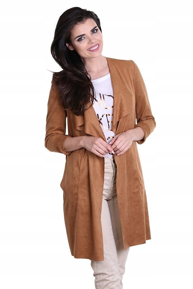 Płaszcz PLEASE brązowy Model K9750336 - (S)