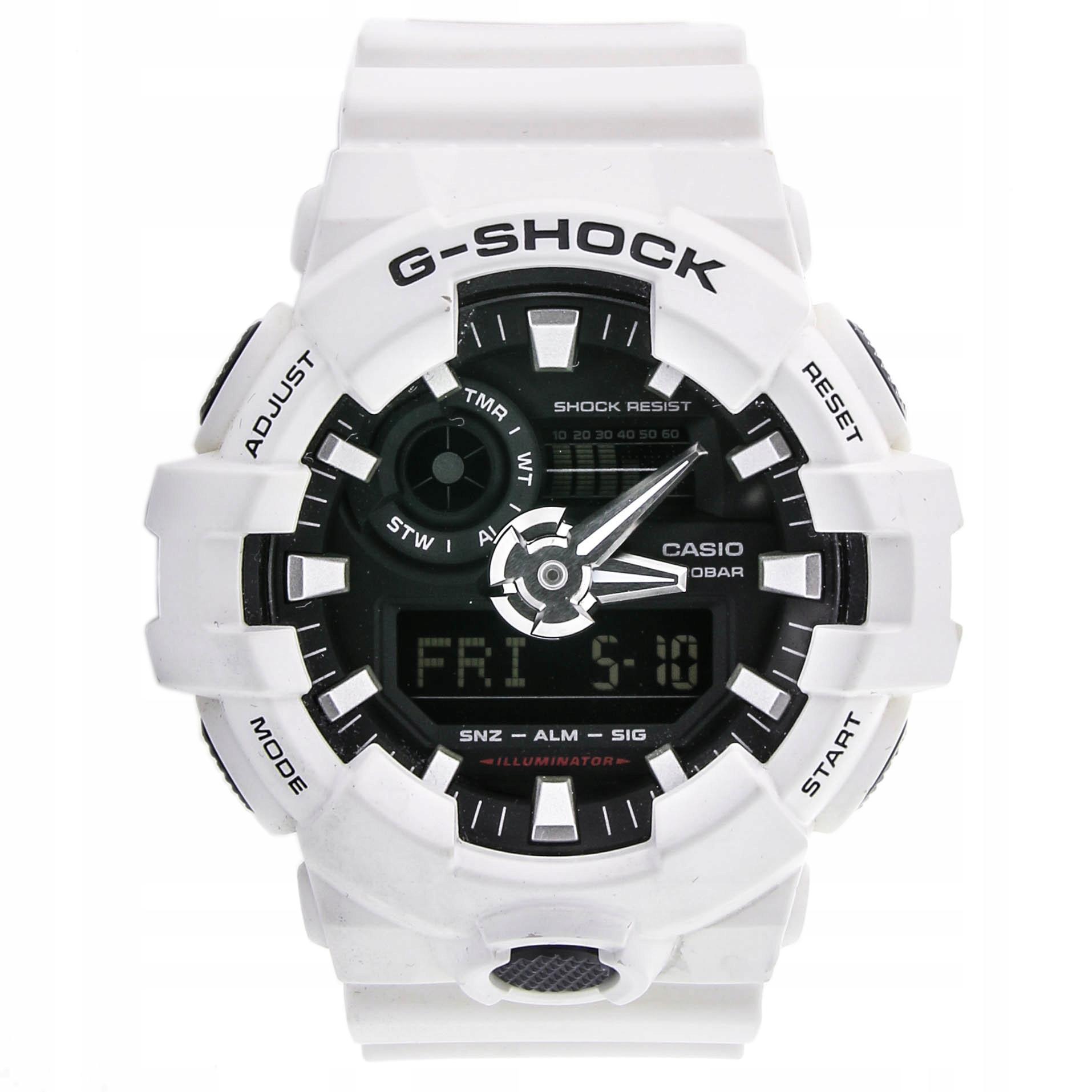 Zegarek CASIO GA-700-7AER G-SHOCK STOP-WATCH 20ATM
