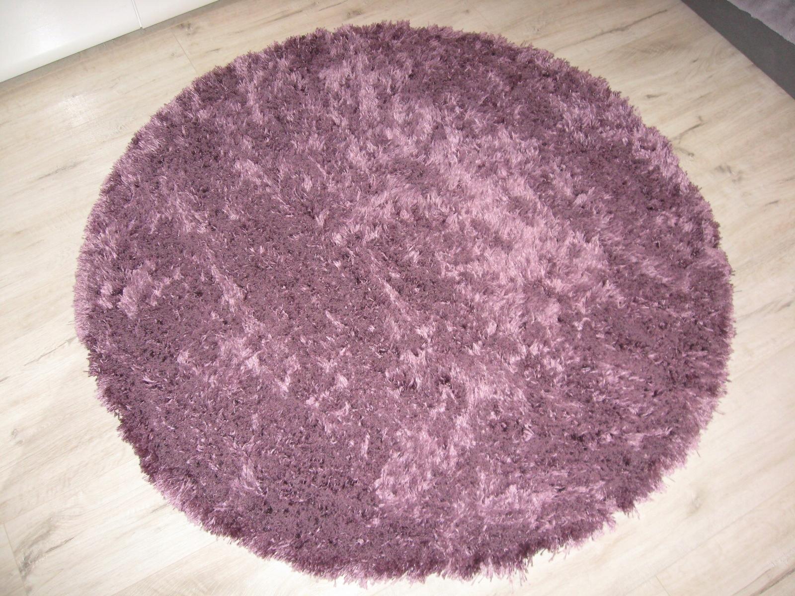 Fioletowy Dywan Shaggy Sklep Komfort Koło 120 Cm