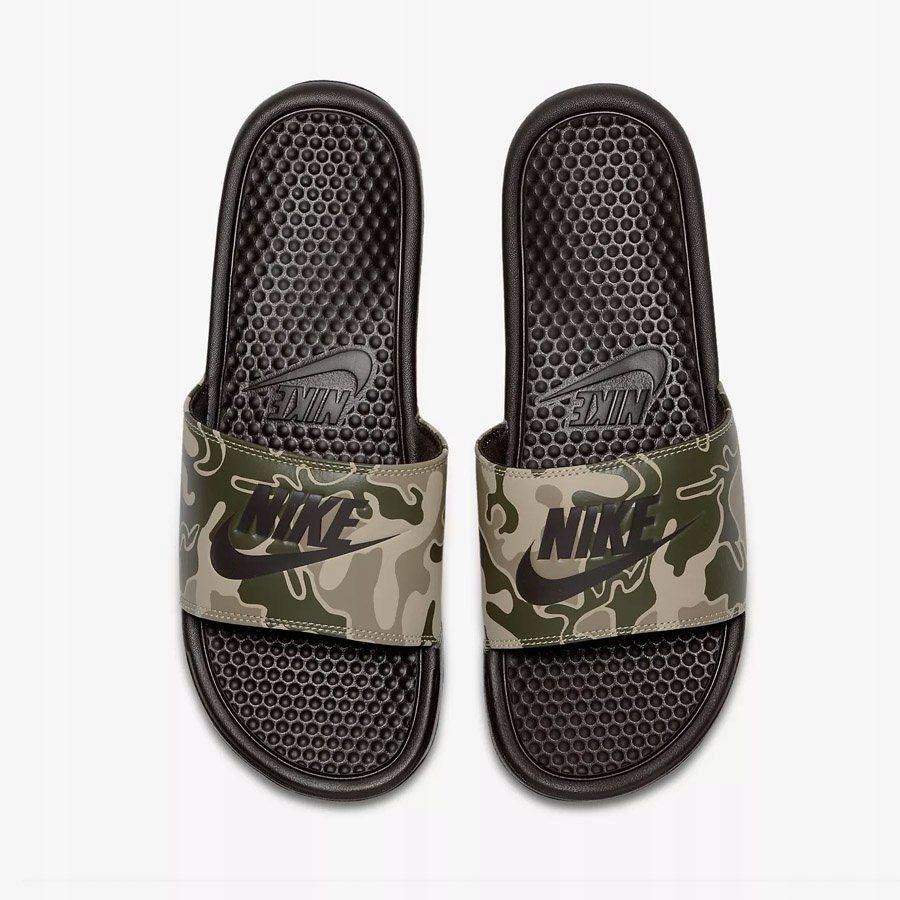 Klapki Męskie Nike Benassi Just Do It brązow 42.5
