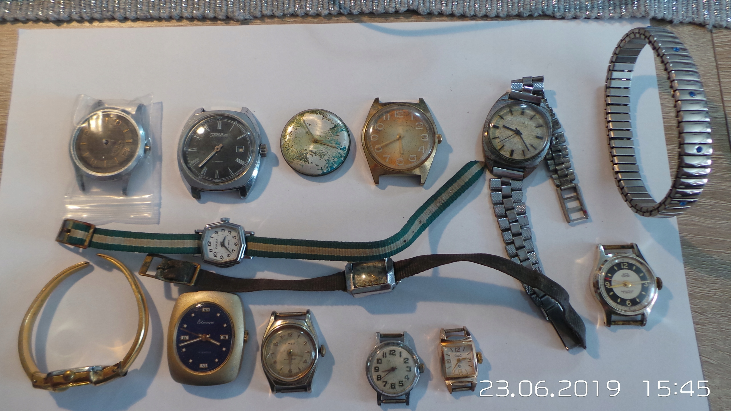 zestaw starych mechanicznych zegarków DELBANA TIME