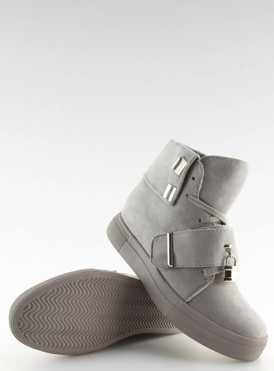 Sneakersy damskie szare NC158 GREY trend ciepłe