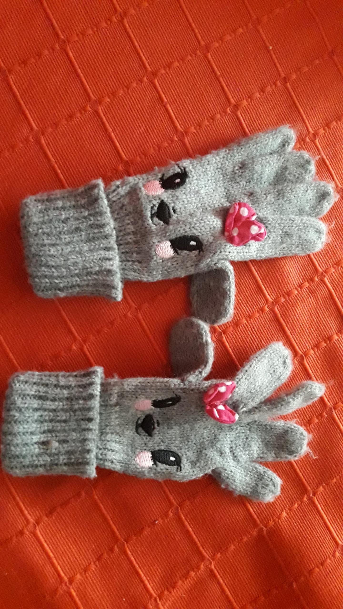 Rękawiczki dla dziewczynki 1,5 - 2 lata