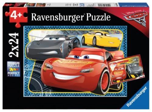 Puzzle 2x24el Cars 3 I can win 078080 RAVENSBURGER