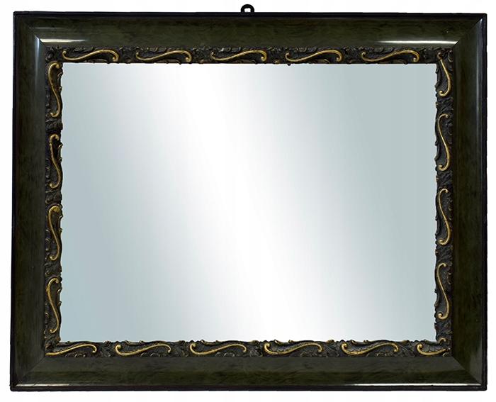 Ok.1920 r. Lustro w ozdobnej ramie 70,5x56 cm