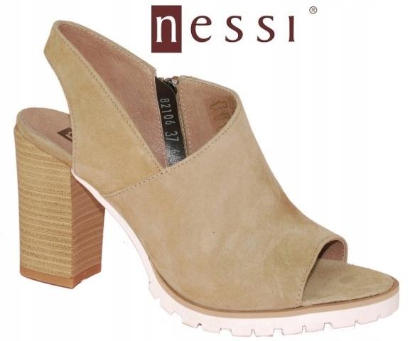 NESSI sandały skóra 38