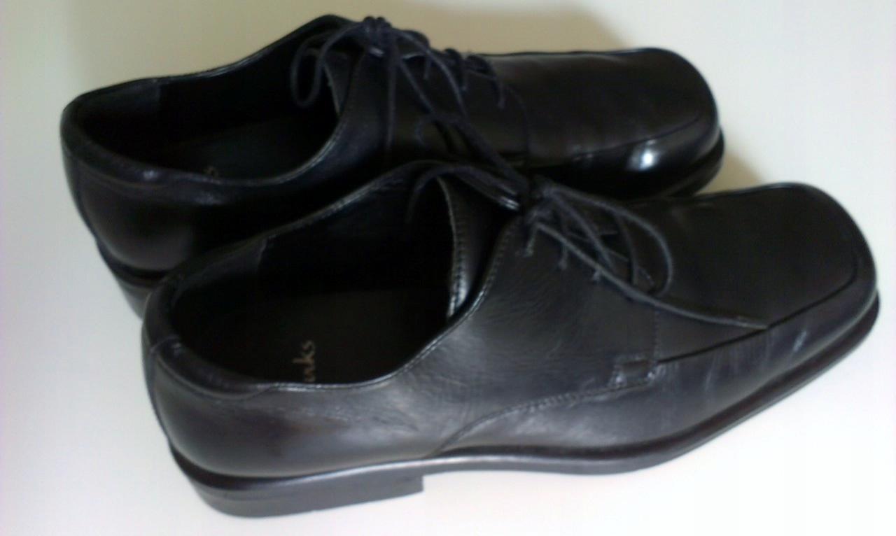 Buty Clarks UK 11 EU 46 czarne wizytowe eleganckie