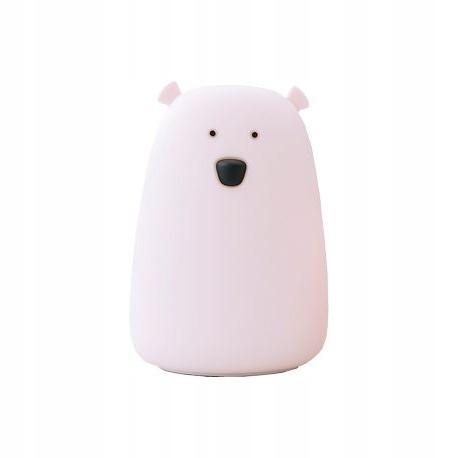 Silikonowa lampka Rabbit Friends Duży Miś Różowy