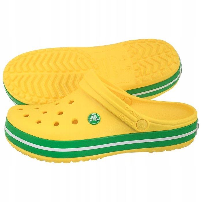 Buty Damskie Klapki Crocs Crocband 11016 Żółte
