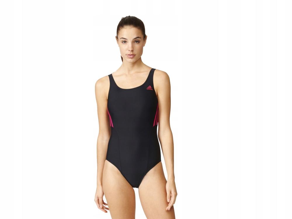 Kostium kąpielowy damski adidas Fitness 3 SwimSuit czarny