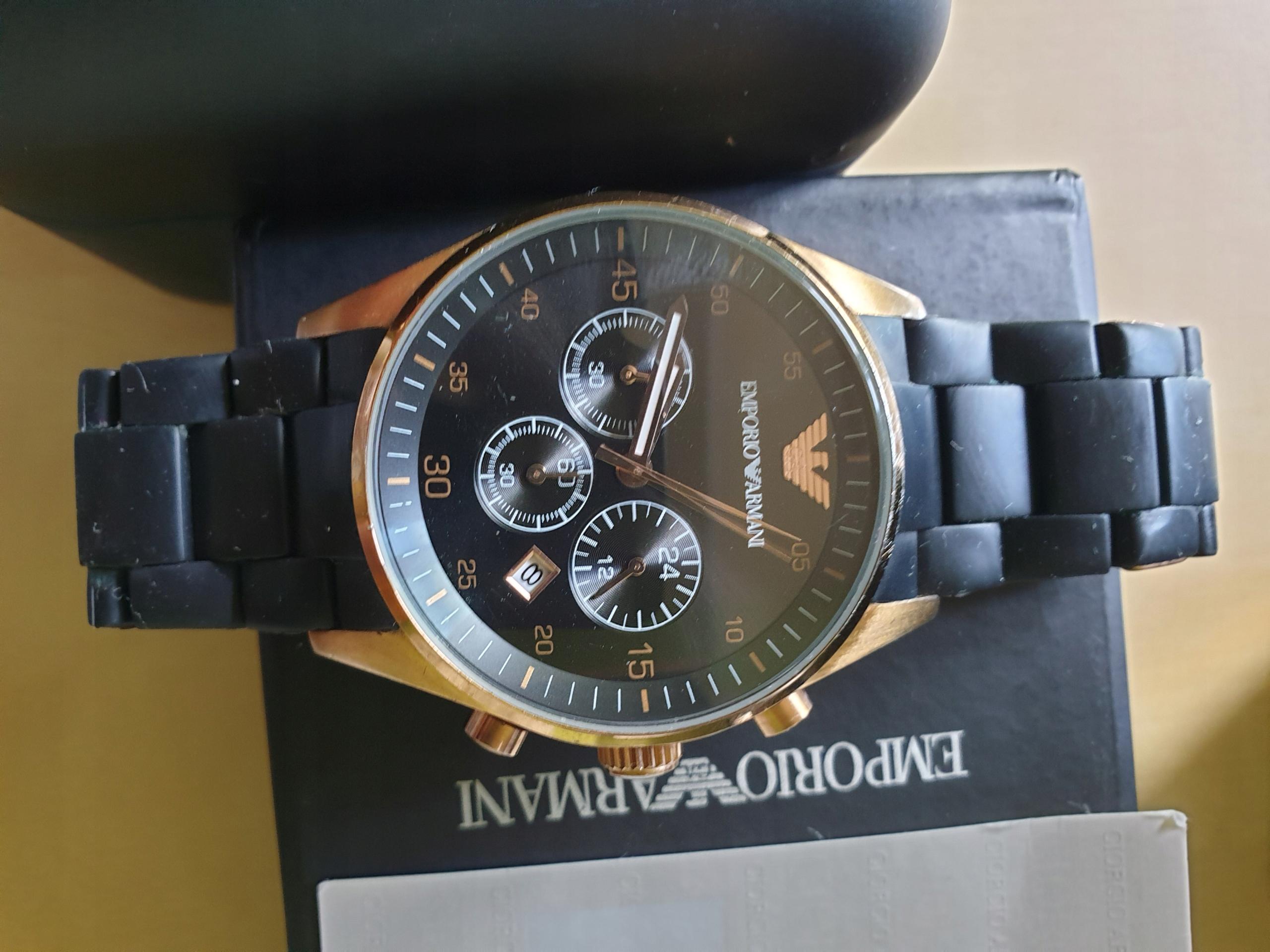 Zegrek Emporio Armani AR5905 - nowe szkło