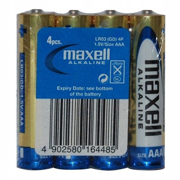 Bateria alkaliczna, LR-3, AAA, 1.5V, Maxell, Folia