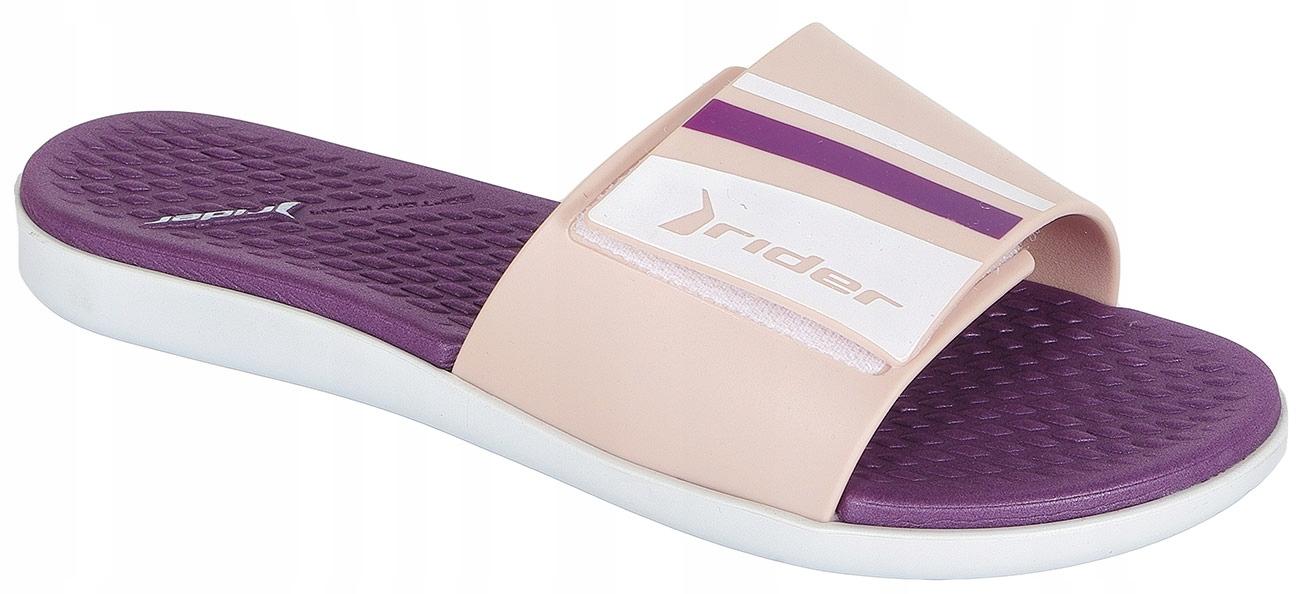 Rider Pool Fem klapki white/pink/purple 37