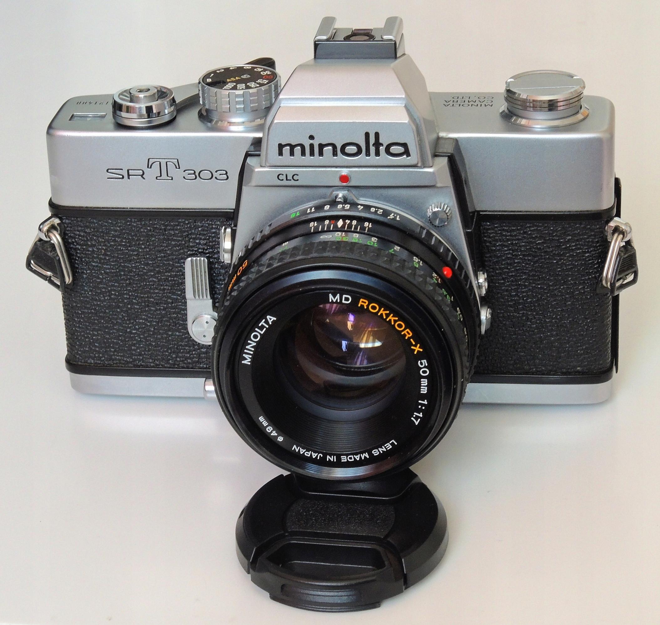 Minolta SRT303 SR-T 303 + MD Rokkor-X 50mm 1:1.7