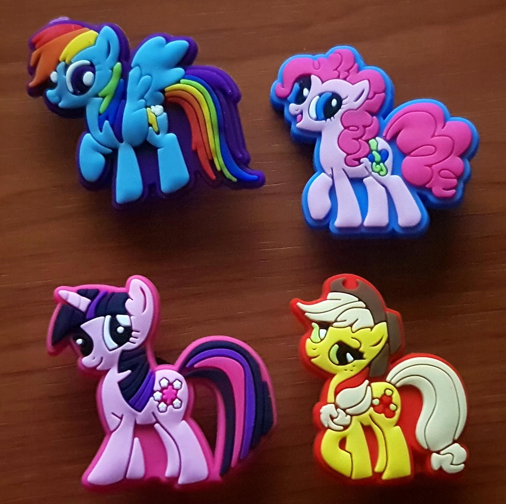 Przypinki do Crocs jibbitz My Little Pony 4 sztuk