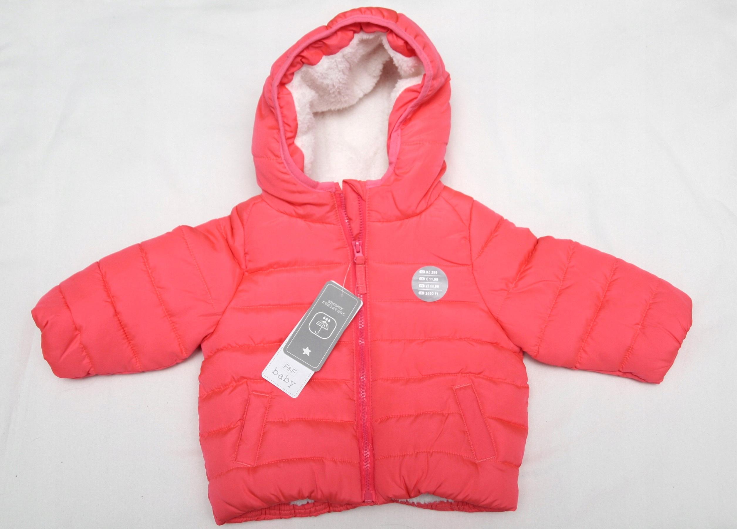 Nowa kurtka dla dziewczynki F&F r.68 3-6