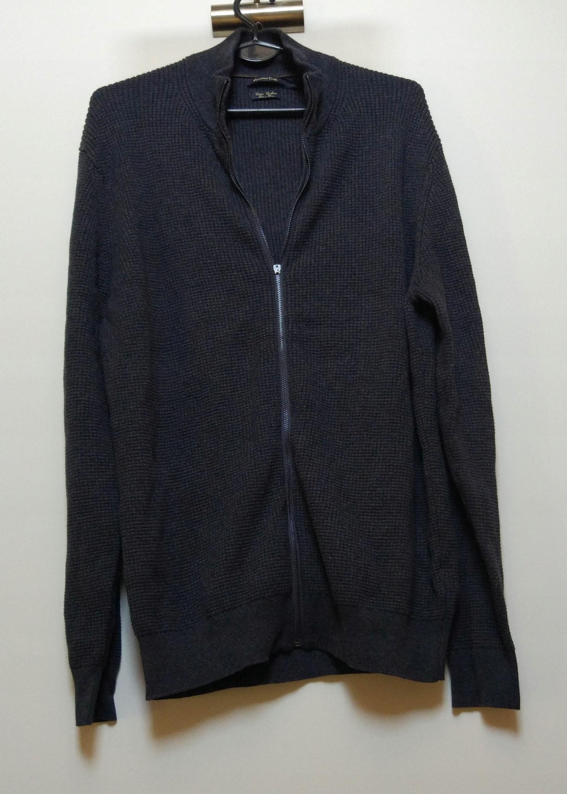 MASSIMO DUTTI sweter na zamek bluza kaszmir XL