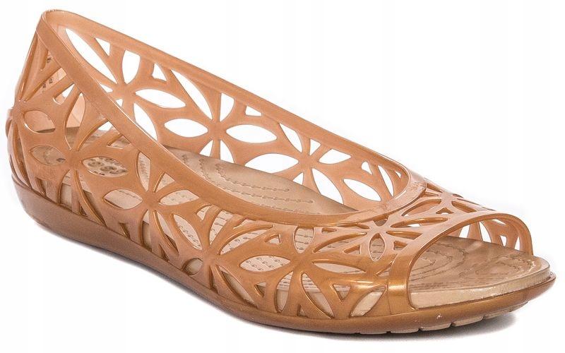 Sandały damskie Crocs r39/40 złoto+brąz 204941-276