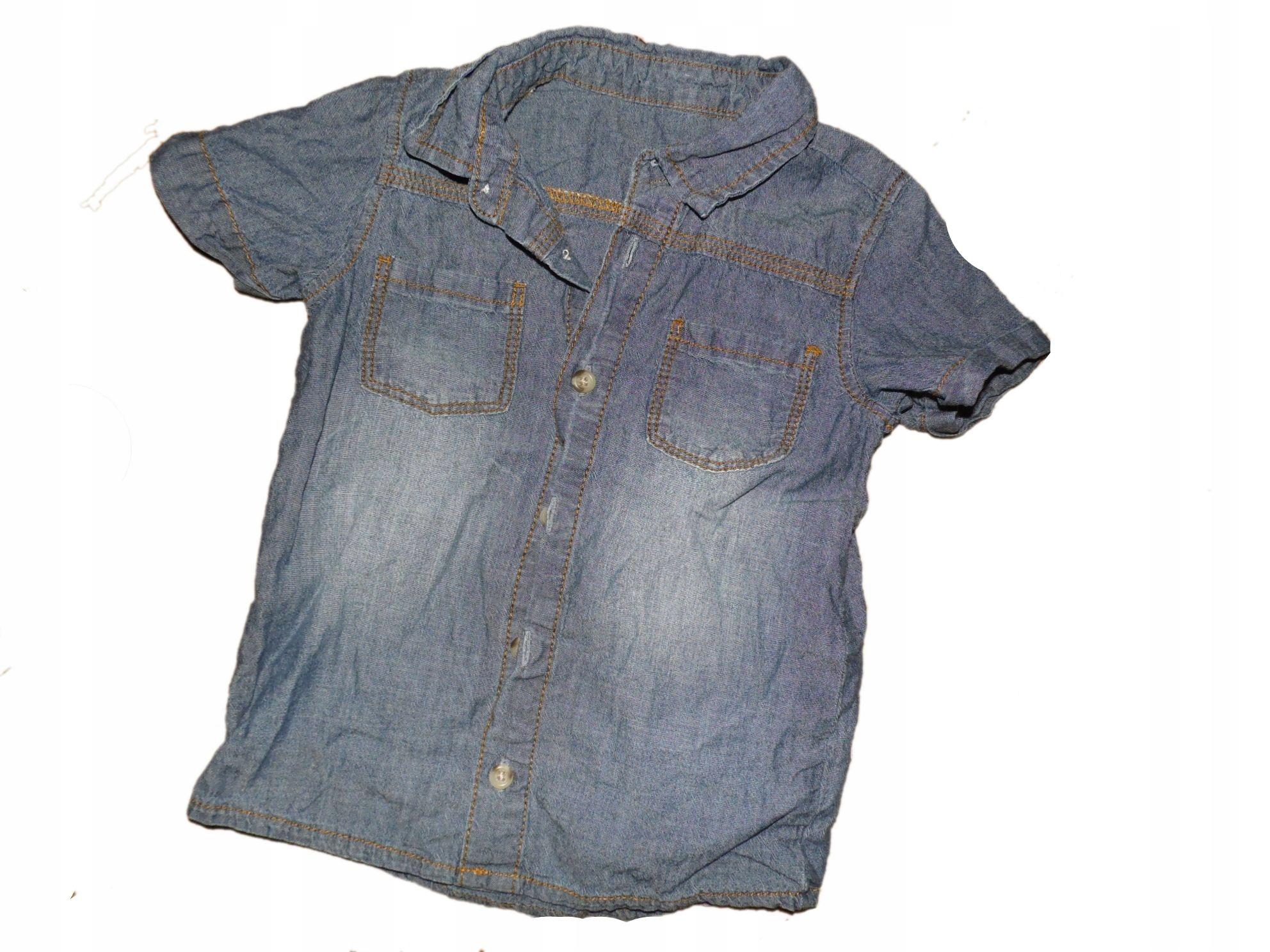 koszula cienki dzins 86-92 stan bdb