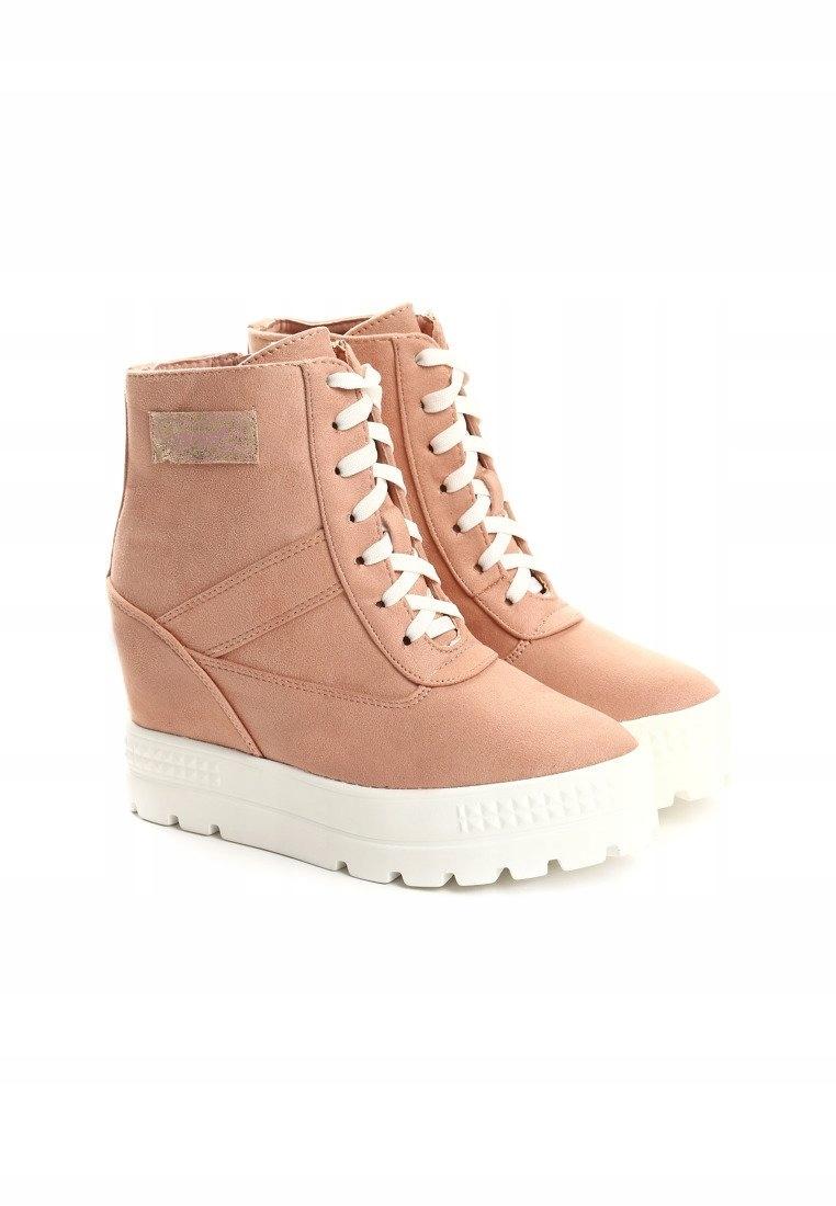 Sneakersy na koturnie BOTKI VICES r. 39 różowe