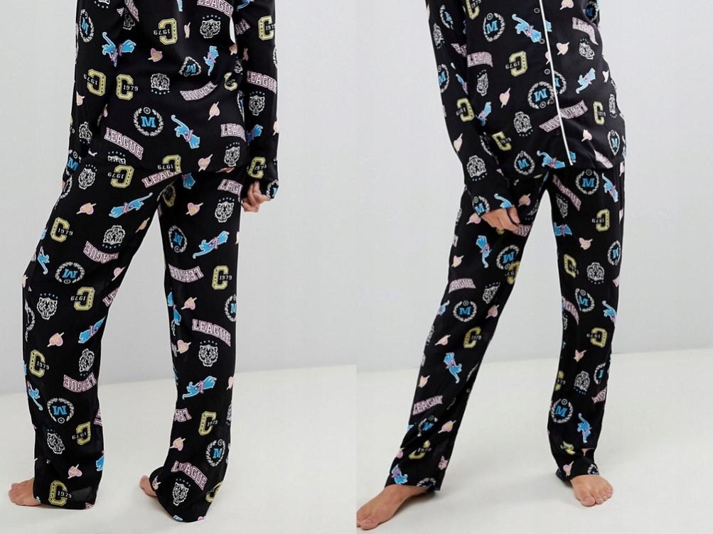 Desig ciążowe spodnie od piżamy z nadrukiem XXL/44