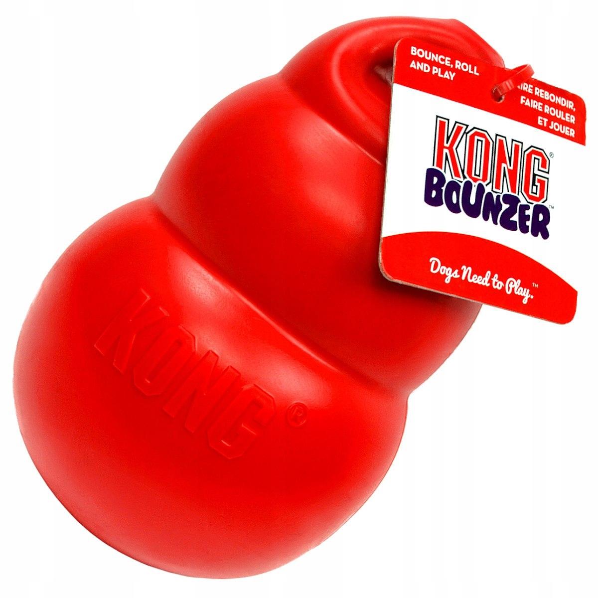 Mocna Solidna zabawka KONG Bounzer dla PSA psów