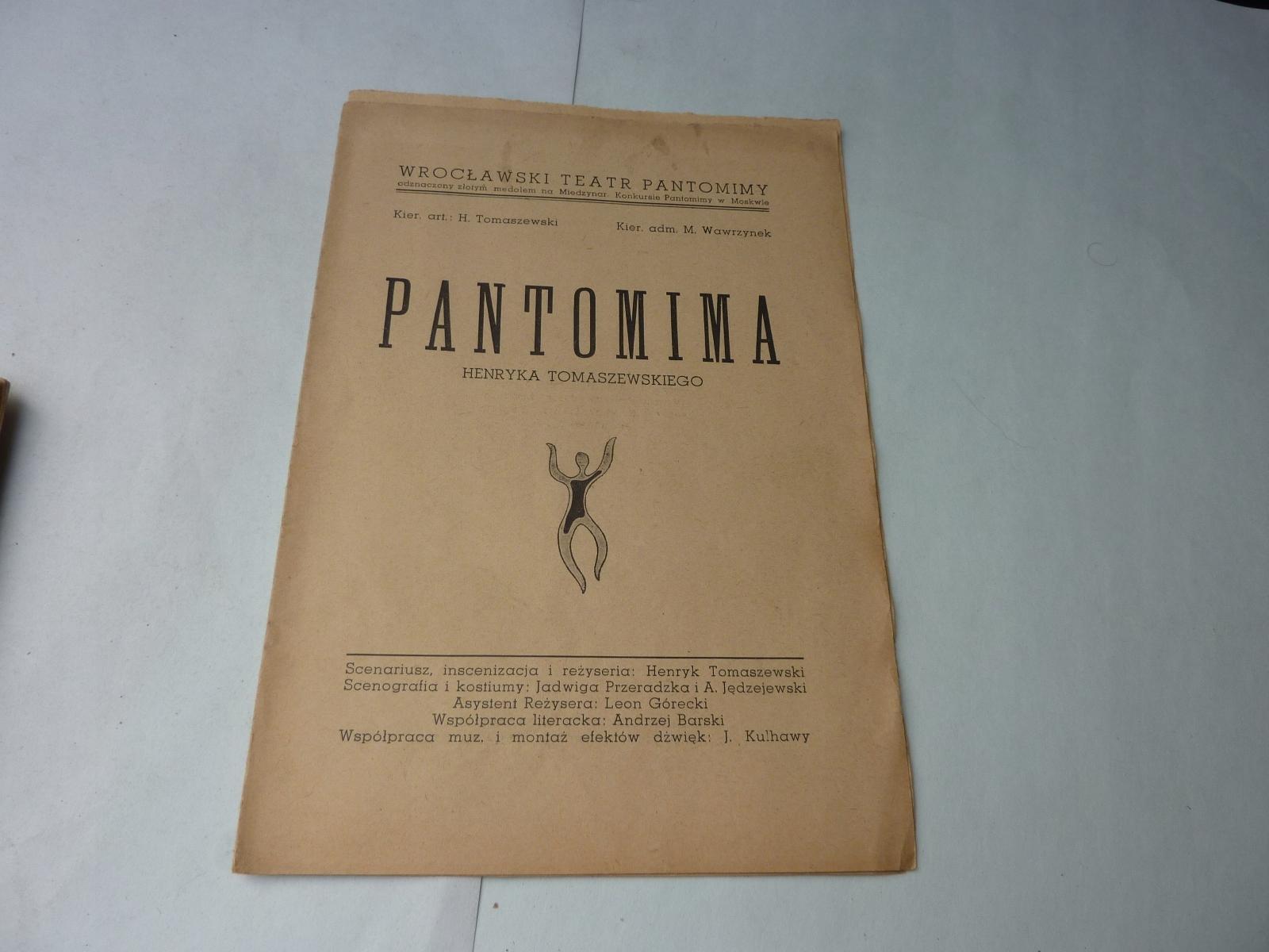 PROGRAM PANTONIMA HENRYK TOMASZEWSKI
