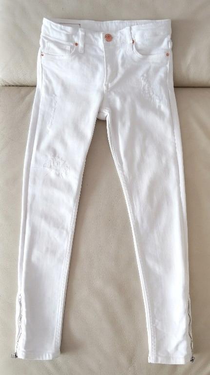 H&M Spodnie Skinny Fit Suwaki Rozmiar 140