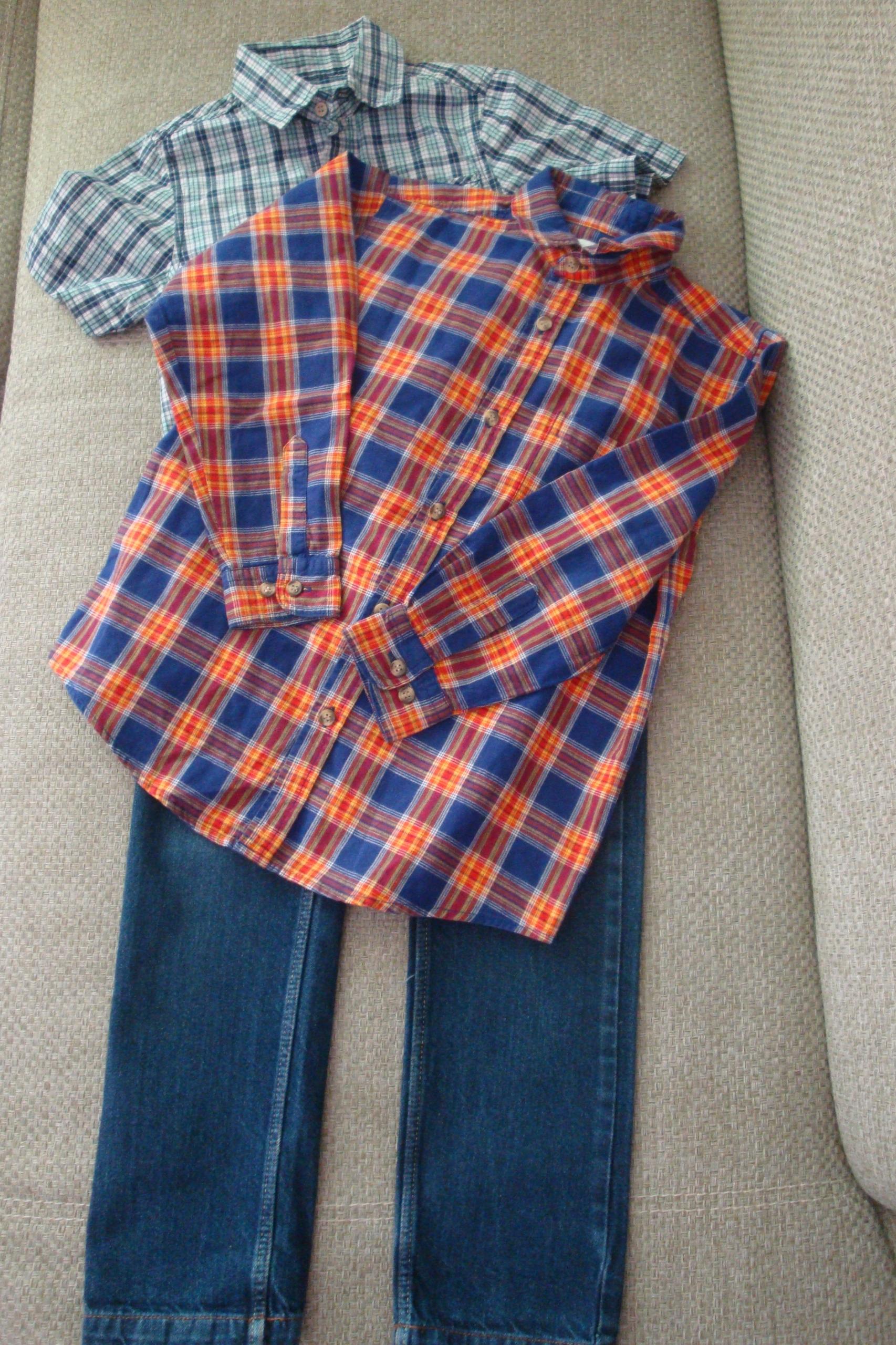 Zestaw chłopięcy: Koszule+jeansy rozm.128