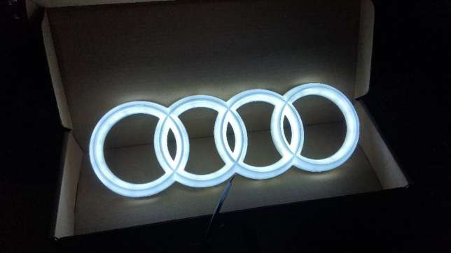 audi logo led led znaczek grill 7184861633 oficjalne. Black Bedroom Furniture Sets. Home Design Ideas
