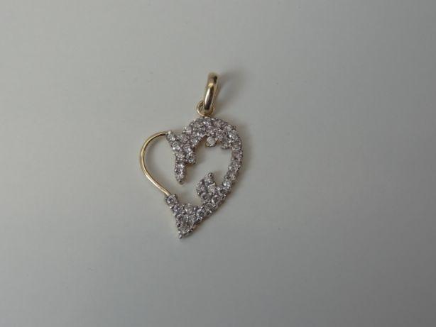 Złota zawieszka serce złote serce 585