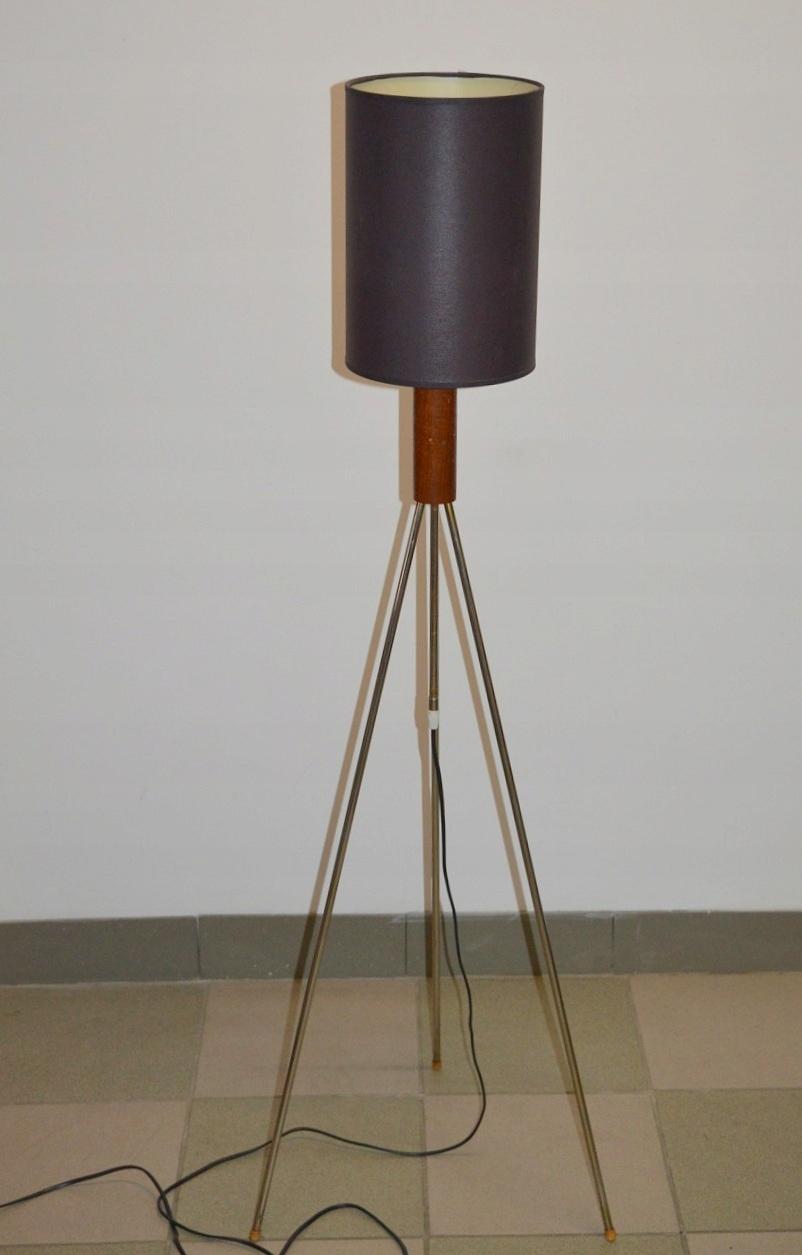 REGULOWANA LAMPA DESIGN NA TRÓJNOGU CHROM TEAK BDB