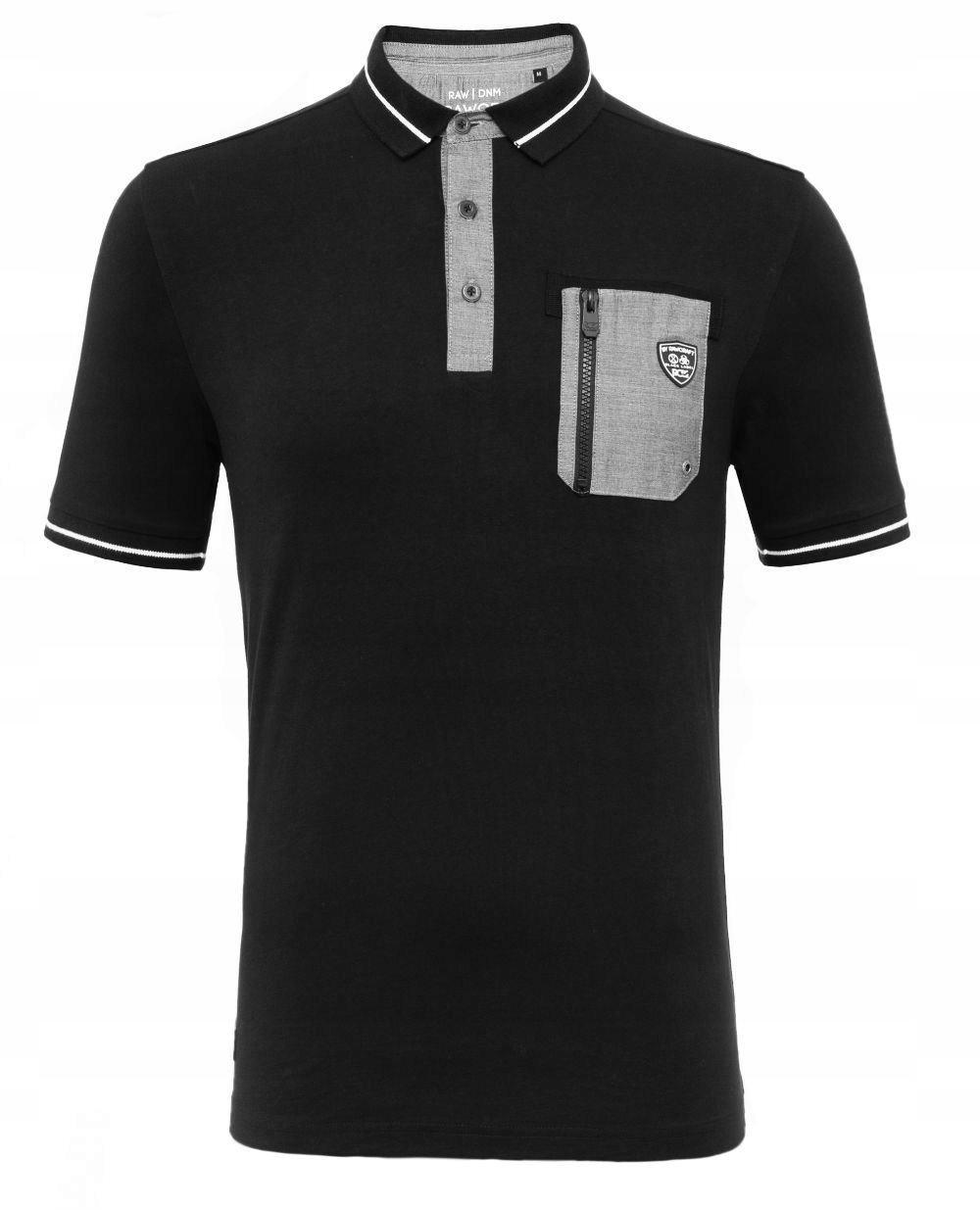 Rawcraft Hopper Duża Koszulka Polo Czarna 2XL