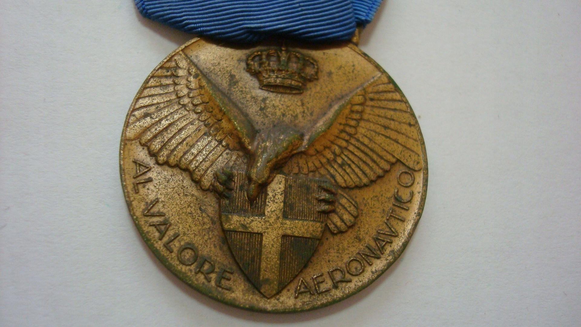 Włochy medal za odwagę lotnictwo 1927 brąz