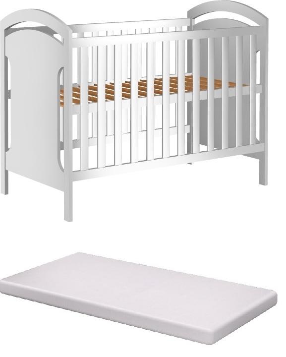 Łóżeczko dziecięce ADAŚ II 120x60 +materac pianka
