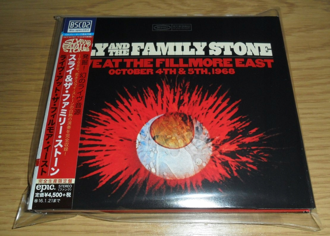 SLY AND THE FAMILY STONE Live Fillmore 4CD JAPAN