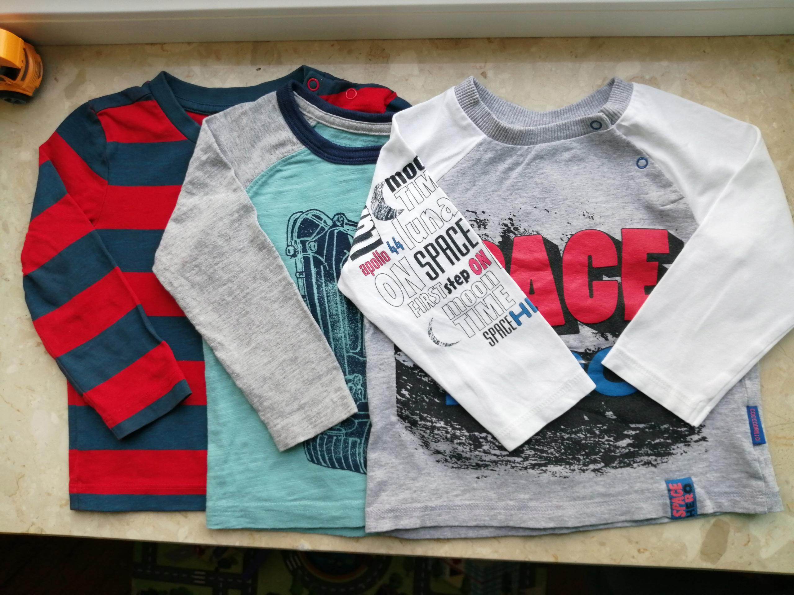 Zestaw bluzeczek 3 szt r 86