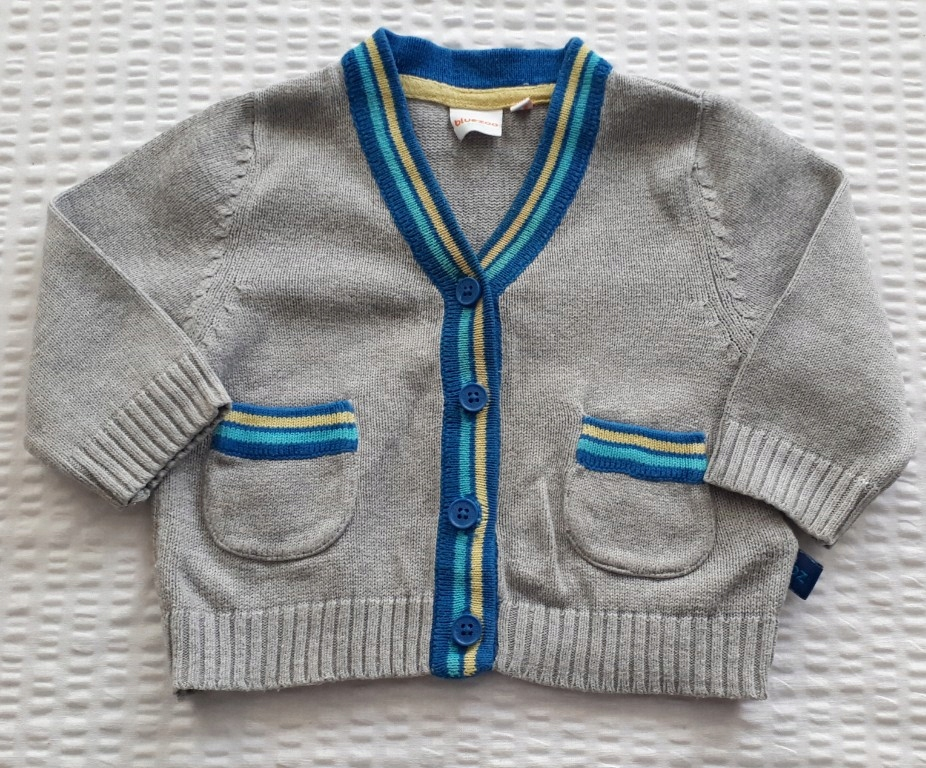 Sweter szary chrzest elegancki r. 62 0-3 mc