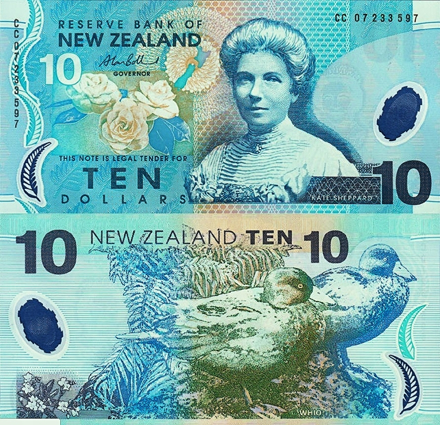 # NOWA ZELANDIA - 10 DOLARÓW - 2004 - P186 - UNC