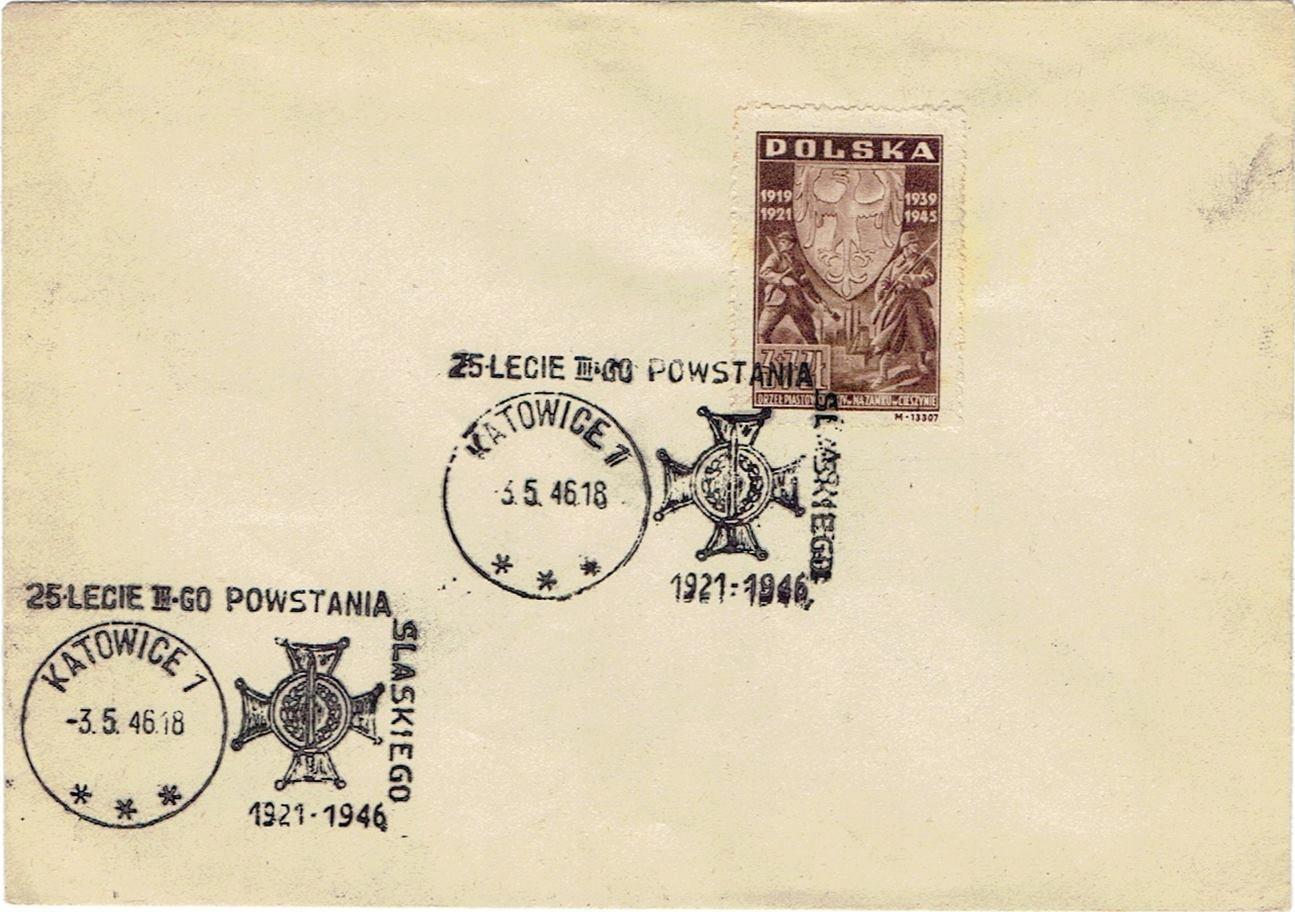 25 lecie III-go Powstania Śląskiego Katowice 1946