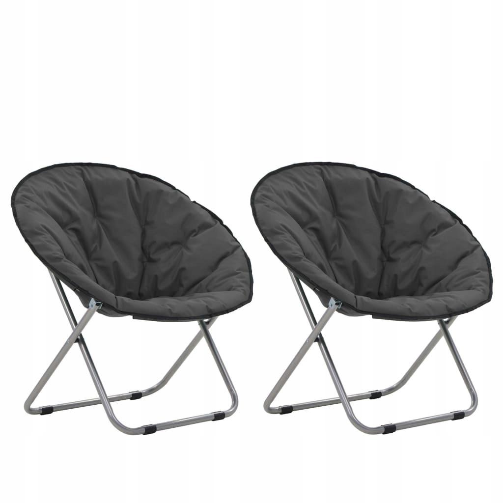 Składane krzesła, 2 szt., okrągłe, szare GXP-68311