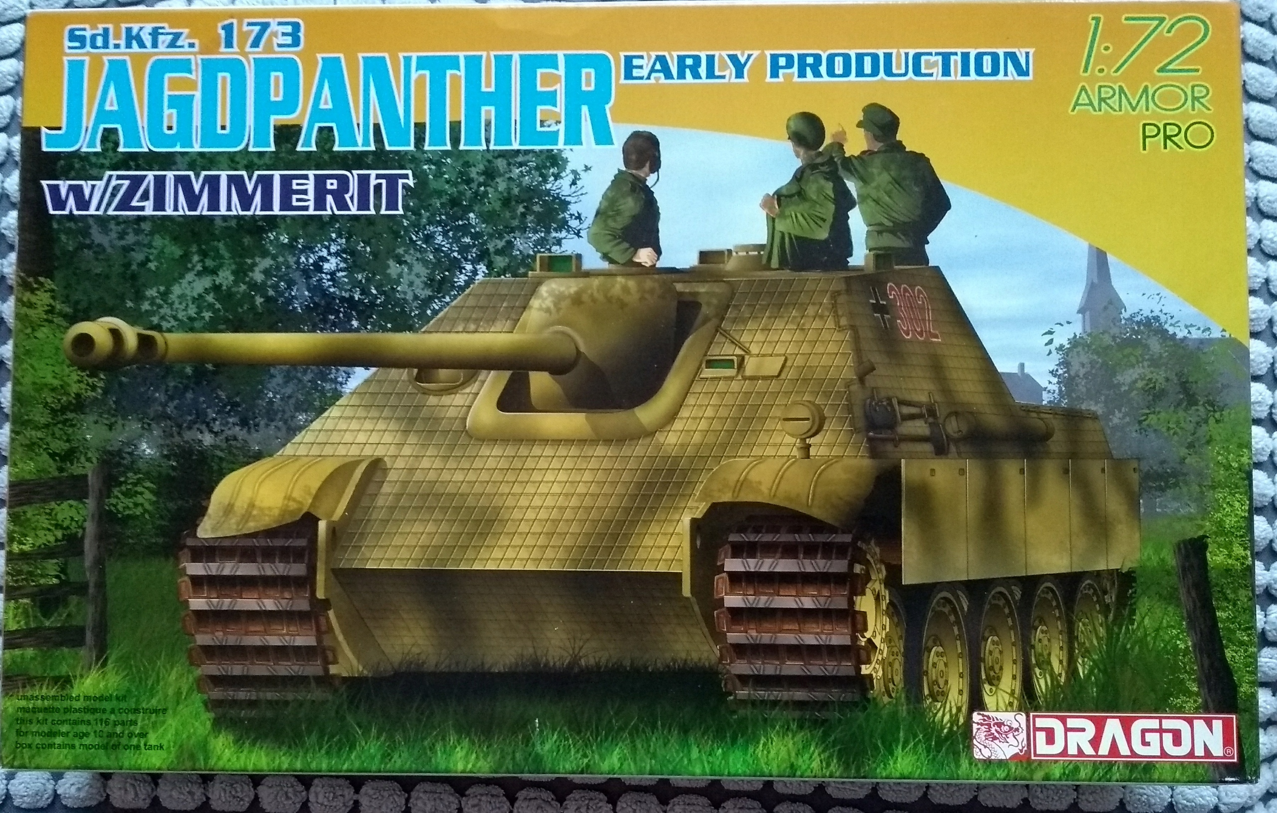Jagdpanther Early.Zimmerit.Dragon 1/72.