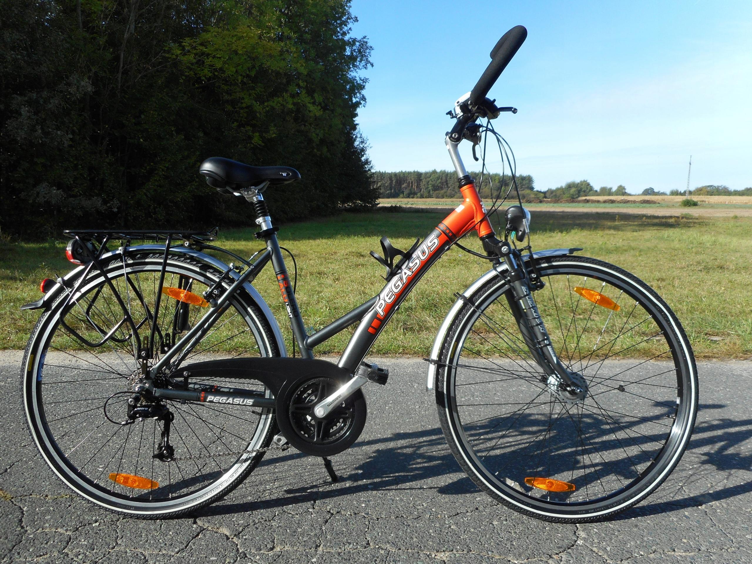 rower damka PEGASUS koła 28 21 biegów aluminiowa