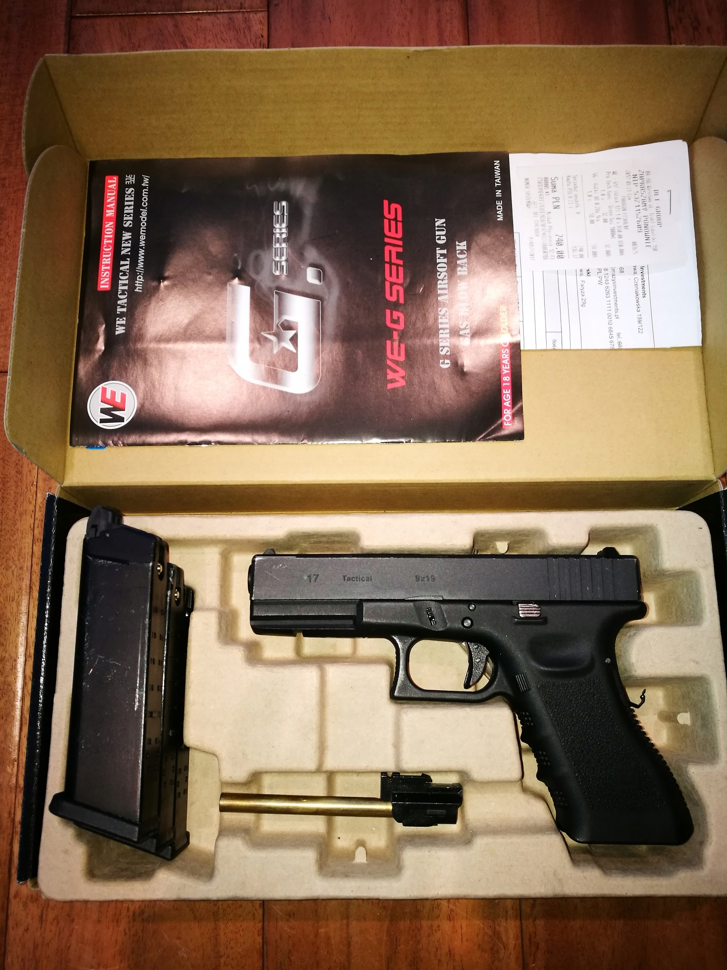 Pistolet ASG WE Glock 17 Gen4 kal. 6mm BB - Green