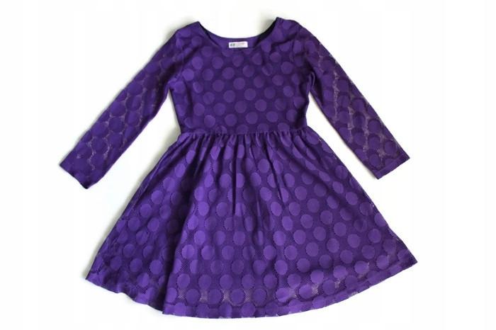 dc71d108e6 U486 H M  Fiolet koronkowa sukienka 158-164 - 7491479445 - oficjalne ...