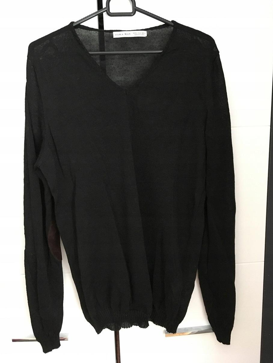 sweter męski czarny ZARA XL L