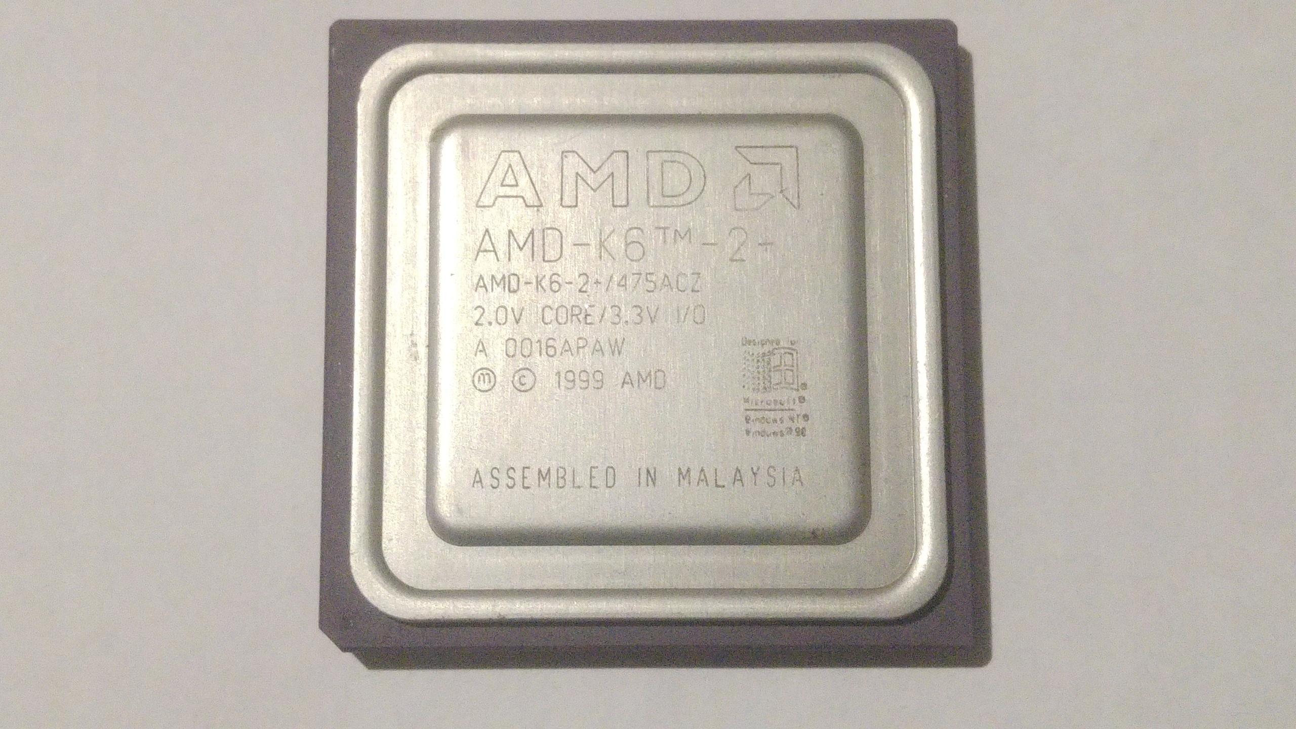 AMD K6-2 475ACZ Socket 7 100% OK retro