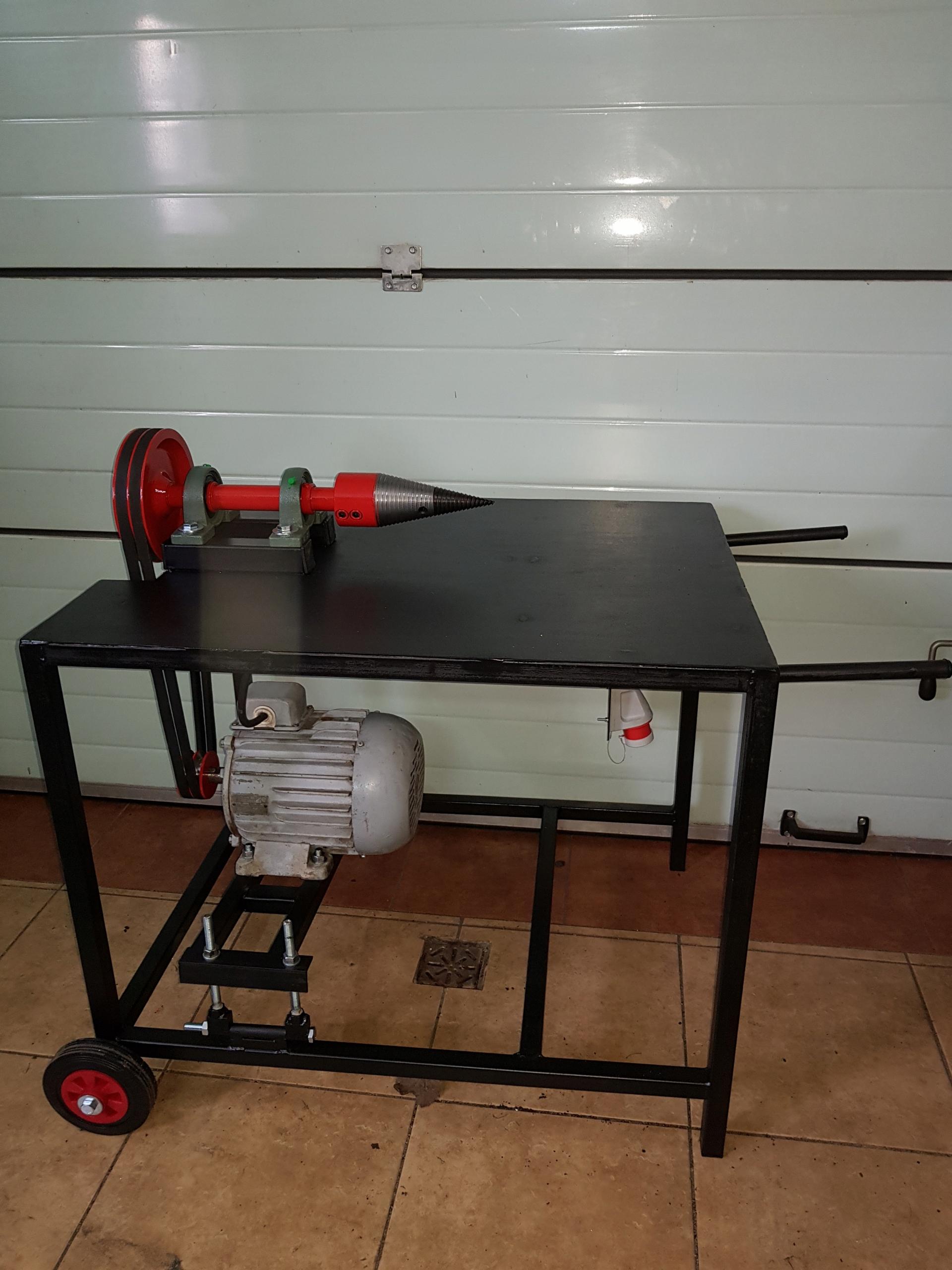 łuparka świdrowa do drewna świder fi 80 silnik 3kW